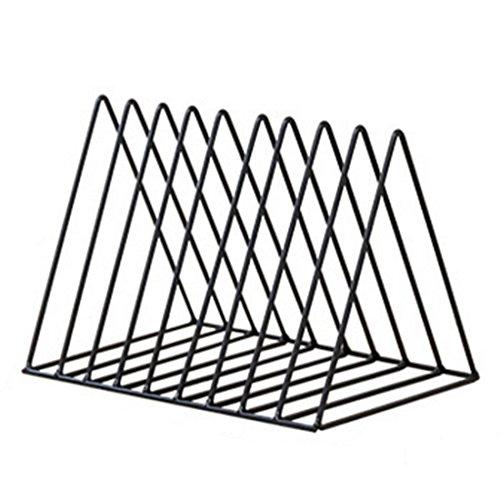 Spieland Bücherregal Magazin Halter CD Ständer Metall Dreieck einfache Eisen Kunst Desktop Lagerregal