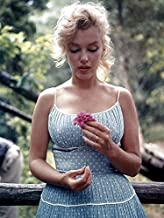 Buyartforless Rare Photograph of Marilyn Monroe with Flower 12x16 Art Printed Poster Made in The USA