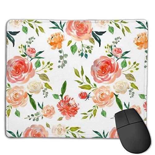 Alfombrilla de ratón para juegos, diseño de jardín secreto con flores, personalización personalizada para juegos y oficina