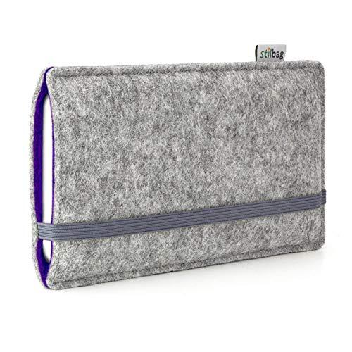stilbag Filztasche \'Finn\' für Apple iPhone SE - Farbe: hellgrau/violett