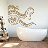 Octopus Tentacle Wall Decal Kraken Wall Decal Octopus Vinyl Sticker Octopus Vinyl Decal Sea Wall Decor Bedroom Bathroom Nursery