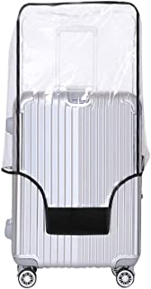 Yotako Clear PVC Suitcase Cover Protectors 24 28 30 Inch Luggage Cover for Wheeled Suitcase, Transparent (Transparent) - YotakoTJO405-20