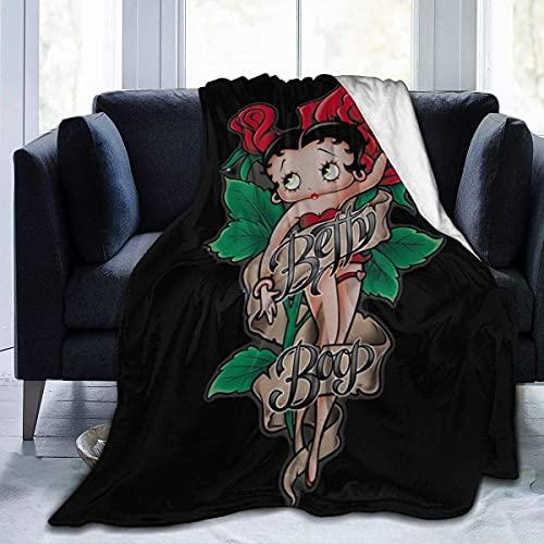 Betty Boop - Manta de microfibra ultrasuave de felpa súper suave para ropa de cama, sofá y sofá