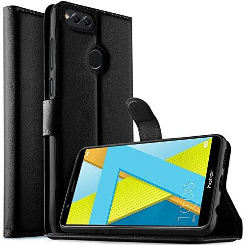 Huawei Honor 7X Custodia, KuGi Flip Cover Portafoglio Pelle Protective Wallet Custodia Morbido Caso Guscio con Stand per Huawei Honor...
