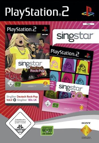Singstar Doppelpack - Deutsch Rock-Pop Vol.2 + 80's UK [Software Pyramide]