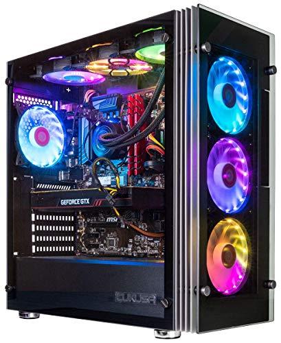 CUK Stratos Micro Gamer PC (Liquid Cooled Intel Core i9-10900KF, 32GB DDR4 RAM, 512GB NVMe SSD + 2TB HDD, NVIDIA GeForce RTX 3060 12GB, AC WiFi, Windows 10 Home) Tower Desktop Gaming Computer