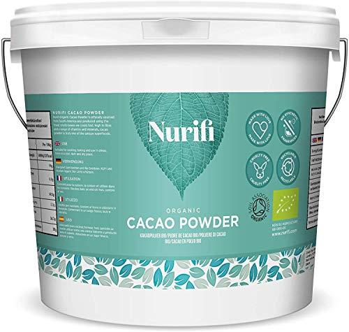 1KG Poudre de Cacao Bio - par Nurifi - Cacao Péruvien, Cru, Naturel et Végétalien