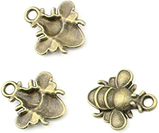 205 pieces Anti-Brass Fashion Jewelry Making Charms 1652 Bees Wholesale Supplies Pendant Craft DIY Vintage Alloys Necklace Bulk Supply Findings Loose
