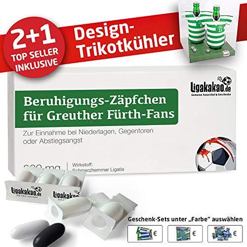 Alles für fürth-Fans by Ligakakao.de Home-Trikot ist jetzt Mein TRIKOTKÜHLER Geschenk-Set (2X Trikots + 1 ZÄPFCHEN)