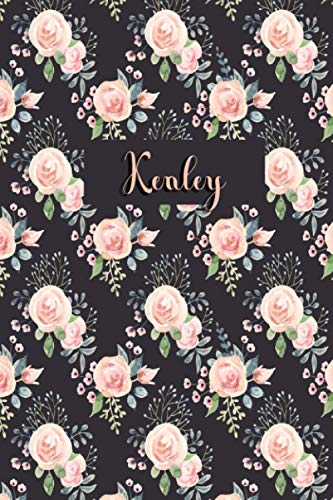 Kenley: Personalized Journal | Custom Name Journal - Pink Rose - Journal for Girls - 6 x 9 Sized, 110 Pages - Personalized Journal for Women - Custom ... Gift for Teachers, Granddaughters and Friends