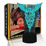 KangYD Lámpara de noche LED King Wand, lámpara de ilusión 3D, lámpara visual para niños, G- Control de Telefonía Móvil, Regalo de la suerte, Lámpara de dormitorio