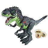 PPuujia Roboterspielzeug mit Fernbedienung, groß, 47 cm, Dinosaurier-Modell, Tyrannosaurus-Tier, elektrisches Flammengeräusch, Walking, RC Dinosaurio-Geschenk, Spielzeug für Kinder (Farbe: ohne Box)