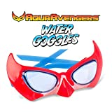 AquaAvengers Superhero Kids Swimming Goggles, Super Heroes Themed Adjustable Swim Mask, Red, for Ages 3 to 8 (Anti Fog, UV Protection, Latex Free, Leak Proof)
