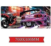 マウスパッド スポーツカースピードゲーミングマウスパッド| XXLマウスパッド| 700 x 300mm大型|完璧な精度とスピードA
