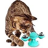 PET SPPTIES Jouet de Chat de Moulin à Vent Plateau tournant chatouiller Chat drôle Jouet Cat Self Groomer Plateau tournant interactif Jouet PS072 (Blue)
