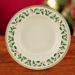 Lenox Holiday Gold Banded Ivory China Pasta Rim Soup Set of 4 (4)
