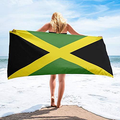 Toalla De Playa,Portátil Jamaica Bandera Nacional Impreso Rectángulo Toalla De Playa Toalla De Baño De Microfibra Para Hombres Y Mujeres Ideal Para Nadar Spa Viajes Yoga Deportes Camping Camping T