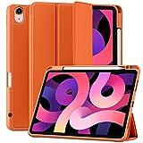 Maledan Funda Compatible con iPad Air 4/Funda iPad Air 2020, Carcasa de TPU Suave de Cuero PU Premium para iPad Air 10.9 Pulgadas 2020, [Soporte para el Pencil] [Auto-Sueño/Estela] - Coral