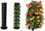 TTCPUYSA Flower Tower Freestanding Planter, 3-Feet,Indoor/Outdoor Plant Tower for Climbing Vines and Flowers Stands,Garden Plant Container
