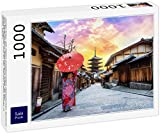 Lais Puzzle Giovane Donna Che Indossa Il Tradizionale Kimono Giapponese con Ombrello Giapponese alla Yasaka Pagoda e Sannen Zaka Street a Kyoto, Giappone 1000 Pezzi