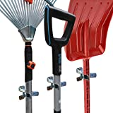 MANOKY Shovel Holder Wall Mount Outdoor 10 Pack - Garden Yard Tool Organizer for Garage - Shed Organizers and Storage Hooks - Rake Rack - Tool Holder and Hanger - Hardware Included