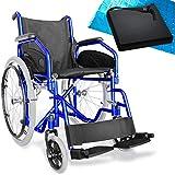 aiesi® sedia a rotelle pieghevole leggera per disabili ed anziani agila evolution # cuscino antidecubito in gel # braccioli e poggiapiedi estraibili # cintura di sicurezza # garanzia italia 24 mesi