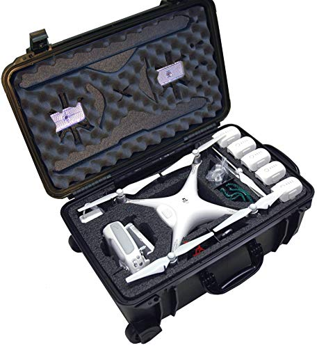 Case Club Pre-Cut Waterproof Drone Case with Wheels,...