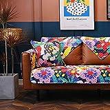 MissZZ Funda de sofá seccional Acolchada, Funda de sofá con Estampado Floral para sofá de 3 Cojines, Funda de sofá Antideslizante en Forma de L Funda de sofá reclinable de 2 plazas G 70x180cm (28x7