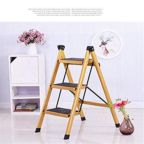 Qazxsw 3-Stufen-Leiter zusammenklappbar Schritthocker Leiter rutschfest Robustes und breites Pedal Mehrzweck für tragbare Haushalts- und Büro-Tritthocker 16 x 26 x 31,5 Zoll