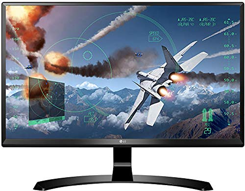 LG 24 inch (60.45 cm) Gaming 4K UHD LED Monitor – 4K UHD, IPS Panel with HDMI, Display, Audio Out, Heaphone Ports – 24UD58 (Black)
