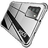 QITAYO Hybrid Clear Kompatibel mit Xiaomi Poco M3 Hülle,Transparent Silikon Handyhülle Schutzhülle Hülle Crystal Clear für Xiaomi Poco M3