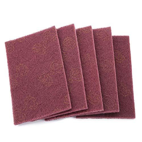 5 stuks stempels voor het opfrissen van schurende stoffen, van nylon, vierkant, voor het opfrissen met de hand Red Fine