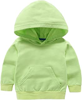 Baby Toddler Kid Boy Girl Solid Casual Pocket Hoodie Sweatershirt Pullover