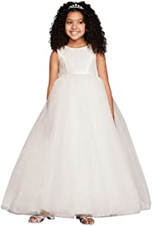 Flower Girl/Communion Ball Gown Flower Girl/Communion Dress with Heart Cutout Style RK1368