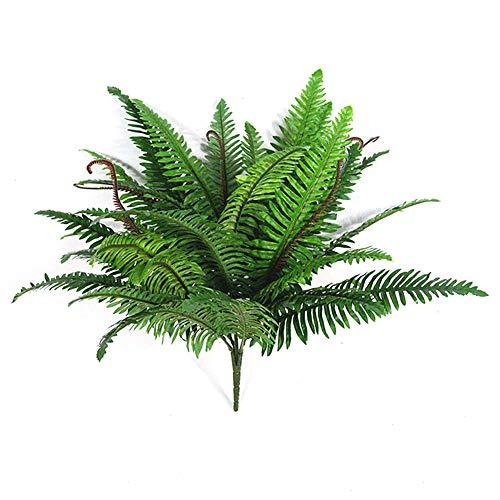 Ironhorse Künstliche tropische Palmblatt-Strauchgrün-Kunstpflanzenplastikpflanze für Gartenarbeitswohnzimmer-Blumenblumenanordnung