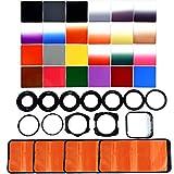 40 en 1 Lente de la cámara del Filtro Kit de 24 Graduado Todo Color nd Filtro Set + 9 + 2 Anillo Adaptador Holder + Hood Lente + 4 Filtro de Mangas