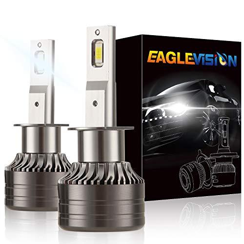 classement un comparer Kit de lampes LED à ventilation puissante Kairidard H1 CREE ZES-3575 11000Lm6000K Lamella…