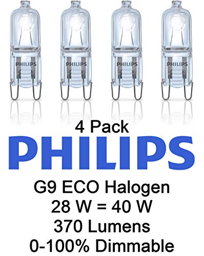 Philips G9 28W Dimmbar Eco Halogen Kapsellampe 370 Lumen EQV 40W - 4 Stück