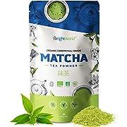Organic Matcha Green Tea Powder - 100g - Ceremonial Grade Pure Japanese Matcha Tea Powder, Premium Health Matcha Powder for Drinks, Mind & Body, Vegan Friendly Greens Powder, Low Calorie Drink