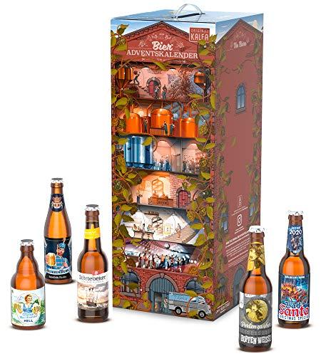 KALEA Bier Adventskalender 24 deutsche Biere aus Privatbrauereien 2020, Premium Biere, Geschenk für Männer, Probierpaket, Weihnachten, Geschenk für Vater, mit Anleitung zur Verkostung