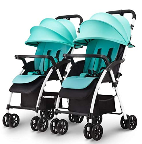 Best Prices! LQRYJDZ Double Stroller,High Landscape Twin Stroller,5 Points Safety Belts, Light...