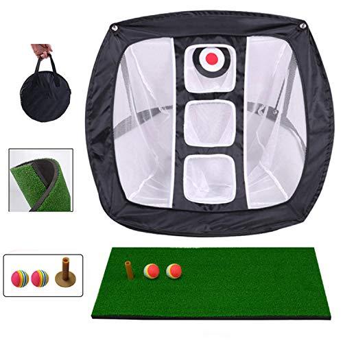 olinkgolf Golf Chipping Net, Indoor Outdoor Faltbares Golfzubehör Tragbares quadratisches Golf Chipping Übungsnetz für Genauigkeit und Swing Practice Golf-Schlagnetze