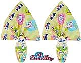 Offerta Pasqua 2020, Due Uova di cioccolato bianco GALAK con sorpresa, 2 x 210 gr