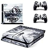 FENGLING Metro Exodus Ps4 Skin Sticker Decal Per Playstation 4 Console E 2 Controller Skin Ps4 Adesivo Vinile