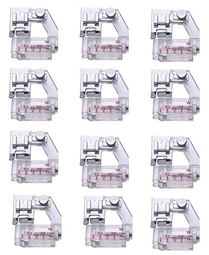 LAKIOMZ Paquete de 12 cintas de encuadernación portátil para prensatelas para máquinas de coser domésticas Singer, Brother, Babylock, Husqvarna, Viking, Janome, Juki, Bernette, New Home, Necchi, Elna