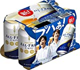 [Pack of 6] [Japan Popular NA Beer] Suntory Japanese Beer Beverage, All Free, 0.00% Non Alcohol, Zero Calories And Gluten Free - 11.2 Fl Oz