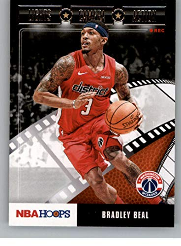 2019-20 NBA Hoops Lights Camera Action #11 Bradley Beal Washington Wizards Official Panini Basketball Trading Card Retail Exclusive Insert