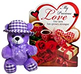 Best Love Gifts | Gifts For Girlfriend | Gifts For Girls | Gifts For Wife | Valentine Gifts for Girls Beautiful Greeting Card with Lovely Message Sales Package: 1 Greeting Card, 1 Soft Teddy Surprise Your Dear One With This Greeting Card, Giving Them...