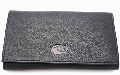 Pipe Tobacco Leather Pouch - Authentic Full Grain Leather - Black