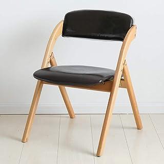 Sillas plegables Silla de comedor de respaldo plegable, estructura en madera de haya, cuero de PU o tela de terciopelo cubierto (extraíble y lavable) para cocina y sala de estar sillas de camping